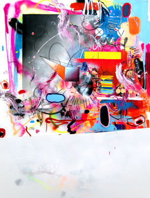 HAYVAN AMG, 2014, mixed media on canvas, 200x150cm