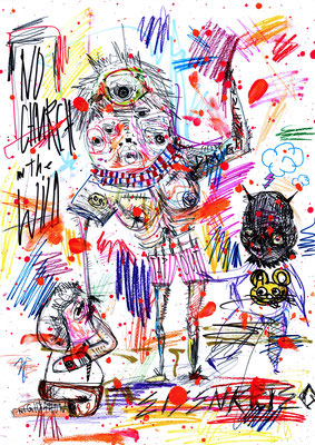 GHETTO OPERA, 2016, mixed mdia on paper, 42x29,7cm