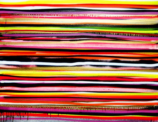 SSS (SCHEISSSTRICHERSTREIFEN NR 3), 2012, mixed media on canvas, 70x90cm