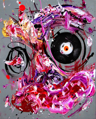 LEIDER HABE ICH ES SO GEWOLLT, 2018, mixed media on canvas, 30x24cm