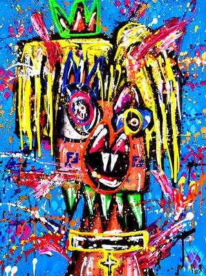 KINKI QUEEN, 2021, mixed media on canvas, 80x60cm