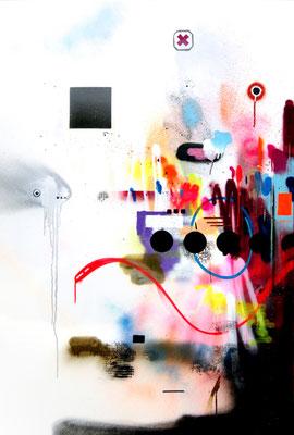ANGELDUST, 2014, mixed media on canvas, 150x100cm