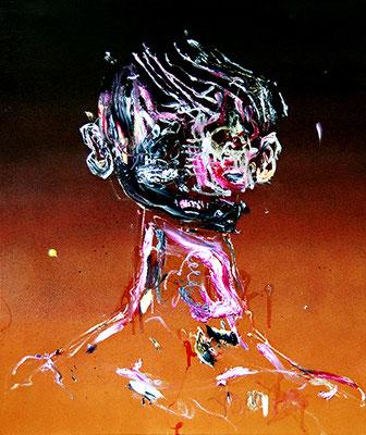 ES MUSS JA NICHT IMMER GLEICH LIEBE SEIN 1, 2015, mixed media on canvas, 60x50cm
