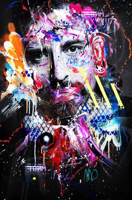 MARC JUNG X MARCO FISCHER // Daniel Wirtz ALPHADOG, 2018, mixed media on canvas, 115x75cm