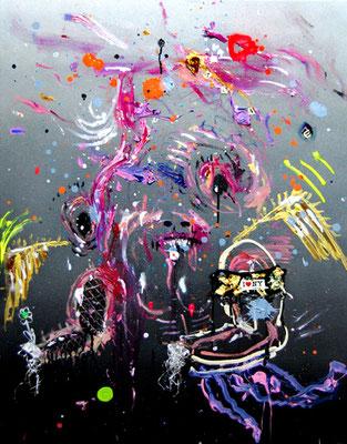MOLLYWOOD, 2014, mixed media on canvas, 90x70cm