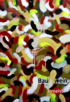 BERLIN ROCKT SCHON IMMER CAMOUFLAGE IHR ANTIANTIHIPSTERTROTTEL 3, 2012, mixed media on canvas, 84,5x60cm
