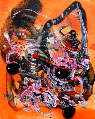LUPENREINER DEMOKRAT, 2014, mixed media on canvas, 30x24cm