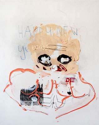 HAPPY BOOM BOOM, 2009, mixed media on canvas, 50x40cm