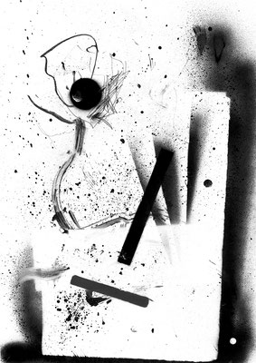 GEMEINSAM EINSAM LIEGEN, 2015, mixed media on paper, 42x29,7cm