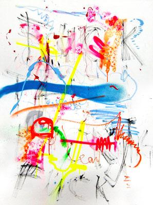 KABALE UND HIEBE 2, 2014, mixed media on canvas, 120x90cm