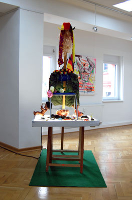 ILLEGAL LEGAL EGAL, 2014, mixed media installation, 250x150x200cm
