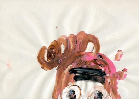 ICH HABE EINE MENGE ZU ERLEDIGEN, 2010, mixed media on paper, 29,7x21cm