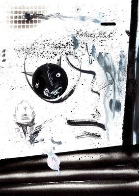 KOMM WIR GEHEN ZU WEIT, 2015, mixed media on paper, 42x29,7cm
