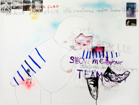 TEAMGEIST, 2009, mixed media on canvas, 90x120cm