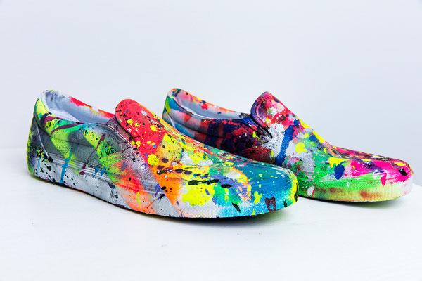 BLITZKRIEG, 2017, mixed media on shoes, lifesize