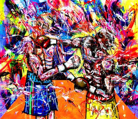 POWER, 2018, mixed media on canvas, 150x170cm