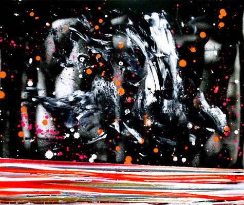 ZAHNFEE AUF METHADON, 2016, mixed media on canvas, 50x50cm