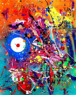 EX CALLING, 2019, mxed media on canvas, 50x40cm