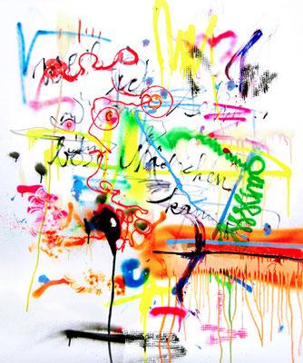 KABALE UND HIEBE 4, 2014, mixed media on canvas, 120x100cm