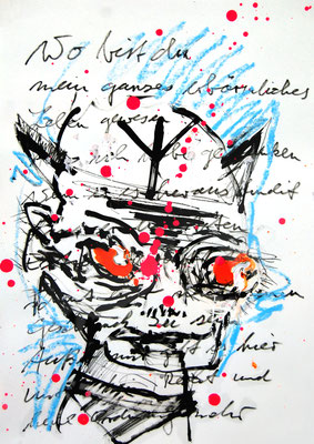 PHANTOMHASS, 2014, mixed media on paper, 42x29,7cm
