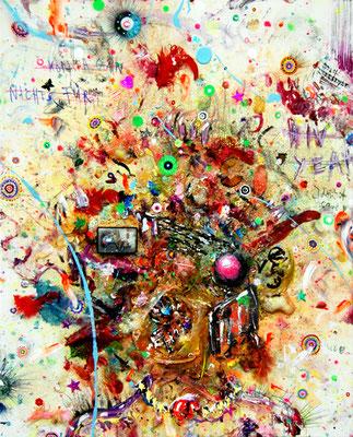 AIDS MACHT SCHLANK, 2012, mixed media on canvas, 60x50cm