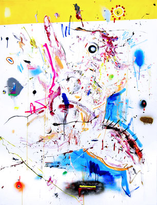 STRESS OHNE GRUND, 2016, mixed media on canvas, 200x150cm