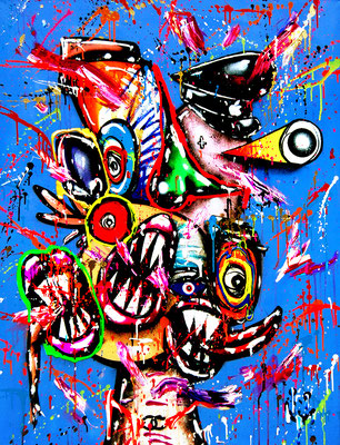 VOODOO IN MY BLOOD, 2020, mixed media on canvas, 120x90cm
