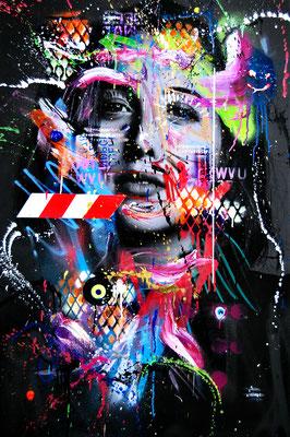 MARC JUNG X MARCO FISCHER // Alice Merton PEREGRINE FALCON, 2018, mixed media on canvas, 115x75cm