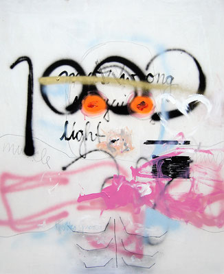 MR WRONG, 2009, mixed media on hardboard, 110x90cm
