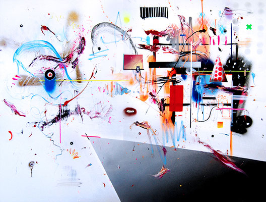 EVERYDAY HUSTLE, 2015, mixed media on canvas, 150x200cm