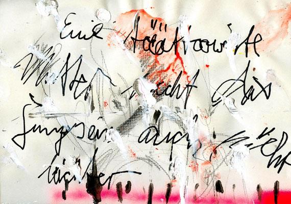 GOTHIC, PUNK ODER EINBISSCHEN BIEDER, 2011, mixed media on paper, 21x29,7cm
