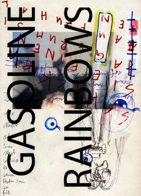 DAS BISSCHEN HAUTKREBS BRINGT UNS DOCH NICHT UM, 2011, mixed media on paper, 29,7x21cm