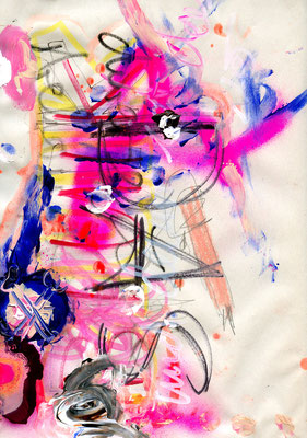 IN GLORIOUS SILENCE QUARK, 2010, mixed media on paper, 29,7x21cm