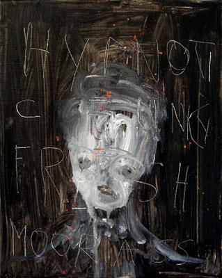 PLATZHIRSCH, 2011, mixed media on canvas, 30x24cm