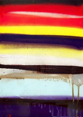 NIE MEHR WIEDER SEHEN, 2011, mixed media on paper, 29,7x21cm