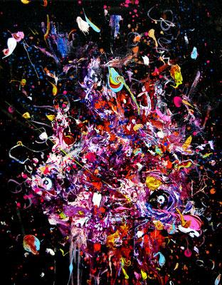 STERNZEICHENEISENSCHWANZ, 2016, mixed media on canvas, 40x30cm