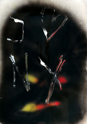 GOTHAM 1, 2011, mixed media on paper, 29,7x21cm