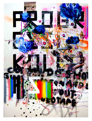 OH LA LA LA LONG, 2010, mixed media on canvas, 200x150cm