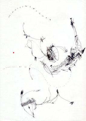 VERDAMMTER ANSPRUCH UND ELENDE WIRKLICHKEIT, 2012, mixed media on paper, 29,7x21cm
