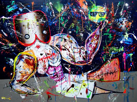 BESTELLT UND NICHT ABGEHOLT, 2016, mixed media on canvas, 150x200cm