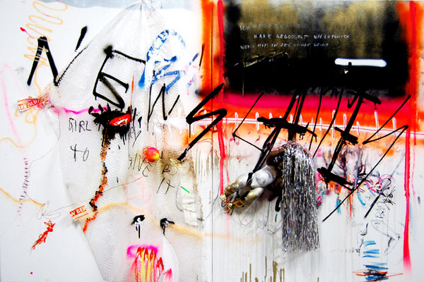 SMOOTH OPFERATOR, 2013, mixed media on canvas, 120x180cm