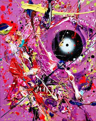ALLES WIRD GUT IN DER NACHT, 2018, mixed media on canvas, 30x24cm