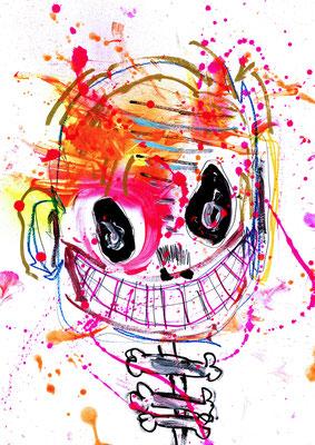 EINE SEELE WIEGT 21 GRAMM, 2016, mixed mdia on paper, 42x29,7cm
