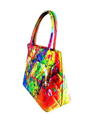902010 SHIt NR.1, 2019, mixed media on chanel bag