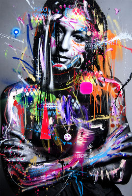 MARC JUNG X MARCO FISCHER // Larry POTTPERLE, 2018, mixed media on canvas, 115x75cm