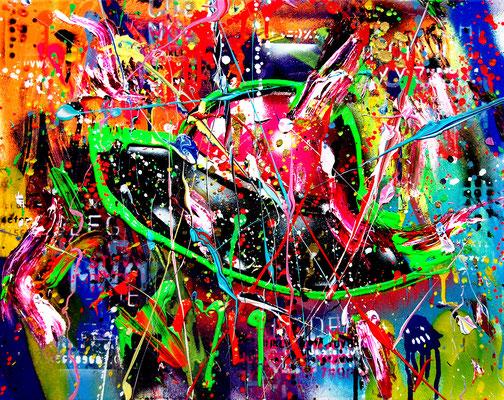 UFO 0361, 2019, mixed media on canvas, 40x50cm