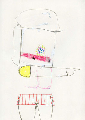 MACH EIN FENSTER DRAUS, 2009, mixed media on paper, 29,7x21cm