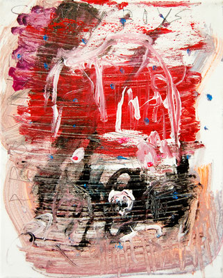 HAPPY HAUS, 2011, mixed media on canvas, 30x24cm