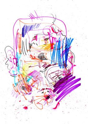 EARL GREY PREMIUM BLATT SCHWARZER TEE AROMATISIERT, 2016, mixed mdia on paper, 42x29,7cm