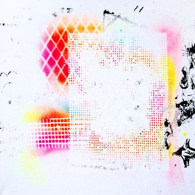 HAFTBEFEHL AUF LEBENSZEIT, 2015, mixed media on canvas, 40x40cm